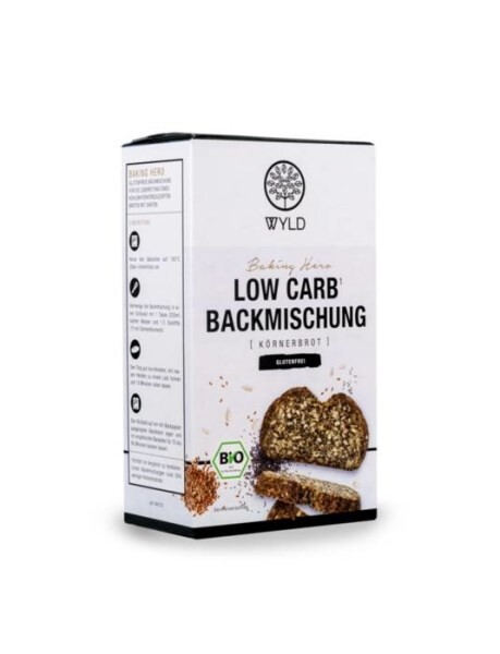 "LOGO_Bio Low Carb* Backmischung Körnerbrot ""Baking Hero"""