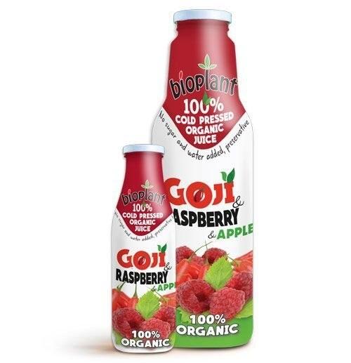LOGO_100% COLD PRESSED ORGANIC GOJI & RASPBERRY JUICE