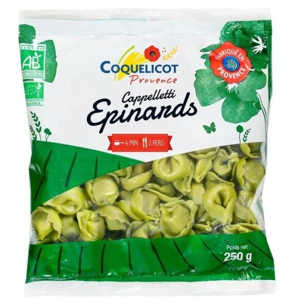 LOGO_ORGANIC Cappelletti with spinach