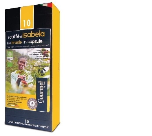 "LOGO_""THE COFFEE OF ISABELA"" BRAZIL COMPOSTABLE NESPRESSO COMPATIBLE CAPSULES"