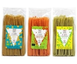 LOGO_LE-GUSTO GLUTEN FREE PASTA OF GREEN PEAS AND WHITE CORN, RED LENTILS AND WHITE CORN, CHICKPEAS AND WHITE CORN