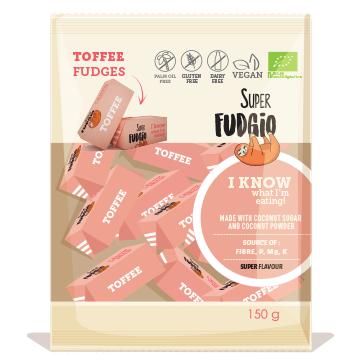 LOGO_BIO Superfudgio vegane Karamellbonbons, Toffee 150g