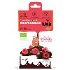 LOGO_Organic chocolate coated, freez-dried raspberries 50g