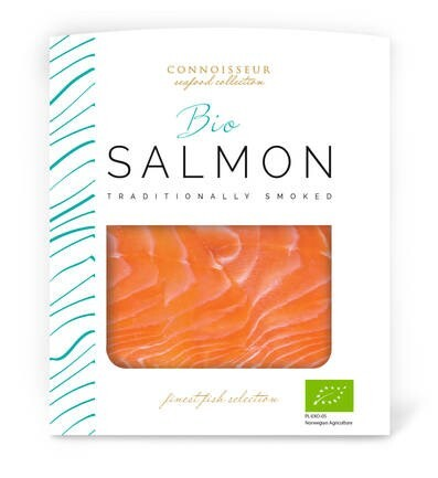 LOGO_Salmon BIO cold smoked, sliced vacuum packed