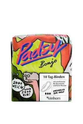 LOGO_einhorn Padsy Bonjo, Tag-Binde aus 100% Bio-Baumwolle – mit Flügelorakel