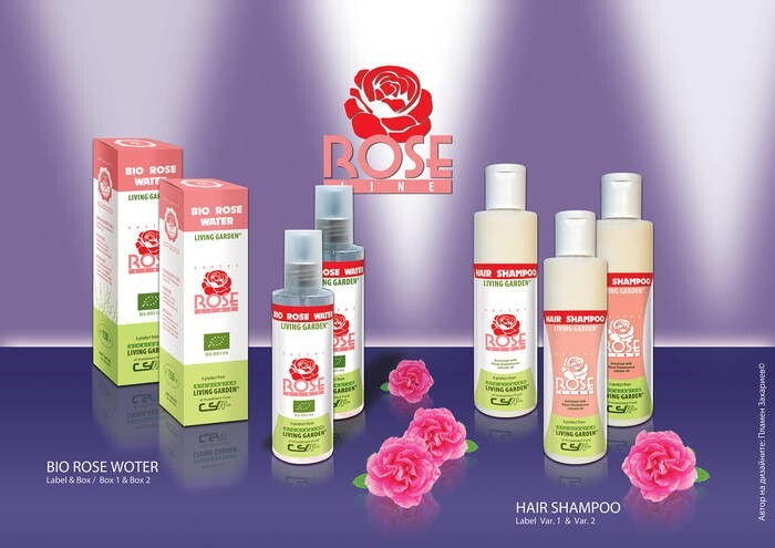 """LOGO_Products """"ROSE LINE"""" from Living Garden"""