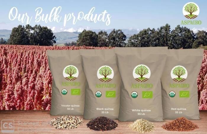 LOGO_White, red and black organic quinoa, bulk