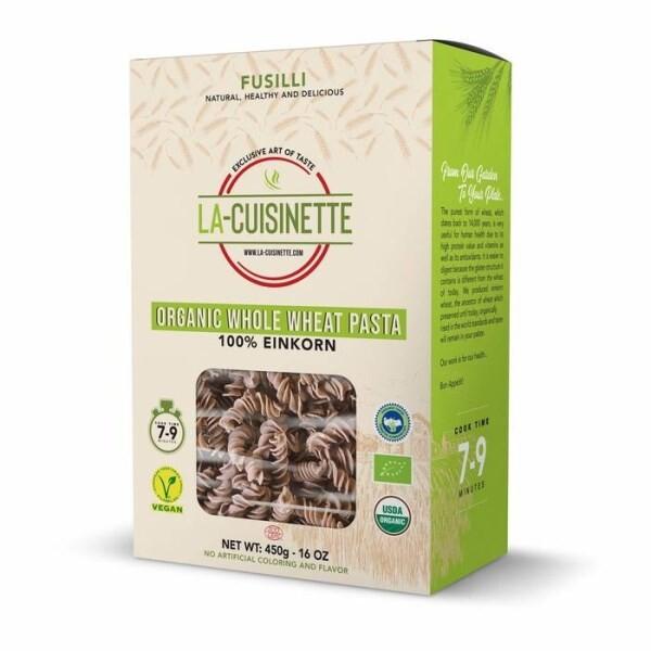 LOGO_Organic Whole Wheat Pasta + 100% Einkorn + Fusulli