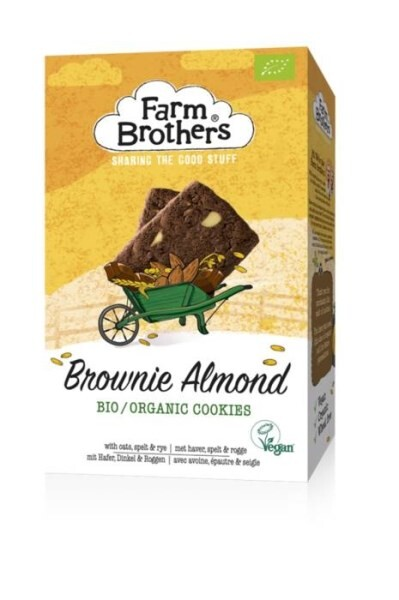 LOGO_Farm Brothers Organic VEGAN Brownie Almond cookies