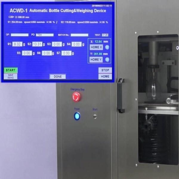 LOGO_Full-automatic hot wire bottle cutter ACWD-1