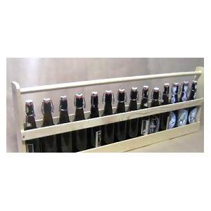 LOGO_1 Meter Holzträger für 14 Flaschen