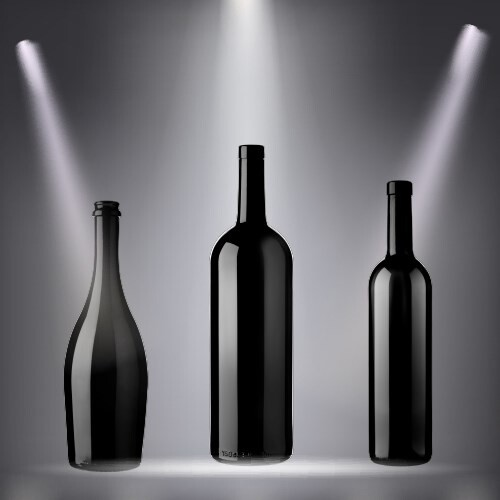 LOGO_Black Glass bottles
