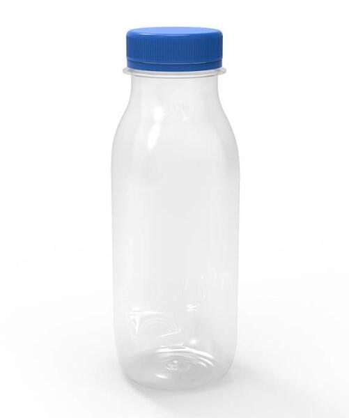 LOGO_PET container for milk / yogurt - 250 cc