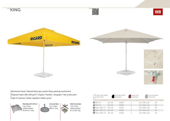 LOGO_KING- Manual Telescopic (MT) Parasol