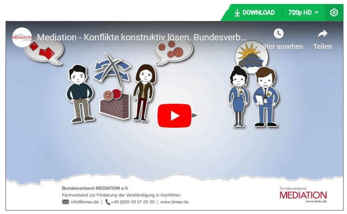 LOGO_YouTube Video zum Download: Mediation – Konflikte konstruktiv lösen