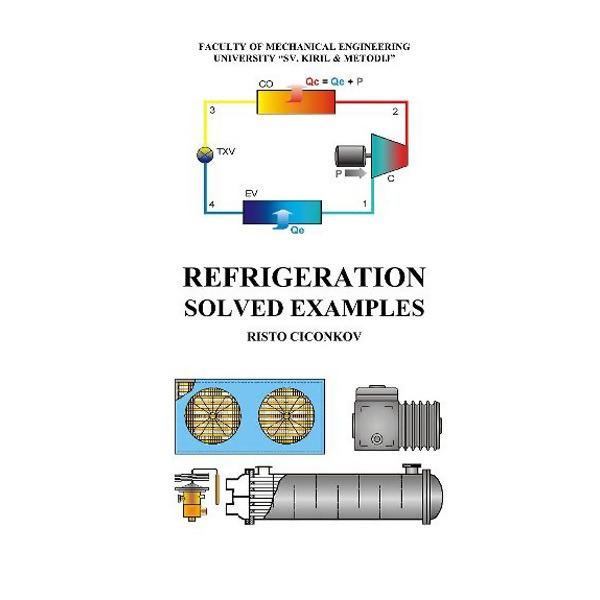 """LOGO_""""Refrigeration – Solved Examples"""" (unique book), Author Prof. Dr. Risto Ciconkov"""