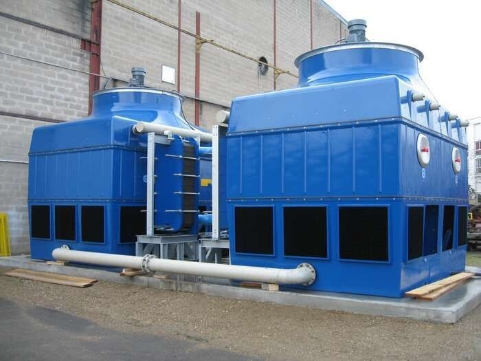 LOGO_EWK-I Axial Closed Circuit Cooling Tower with Plate Heat Exchanger