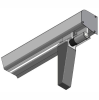 LOGO_ALU125 rail system door leaf width 0-1150 mm | manually operated - top suspension