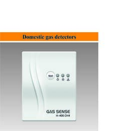 LOGO_Domestic gas detectors for CH4, LPG, CO and refrigerants