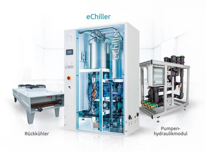 LOGO_eChiller product range – chilled water units with the safety refrigerant water (R718) and simple Plug 'n' Play integration