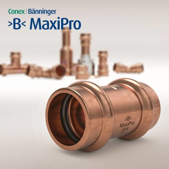 LOGO_>B< MaxiPro - Pressfitting system for Air Conditioning and Refrigeration