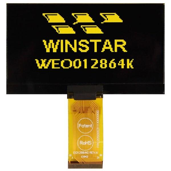 LOGO_WEO012864KLPP3N00000 - Winstar Longlife OLED graphic display module (yellow, 128x64, COG - Chip on Glass)