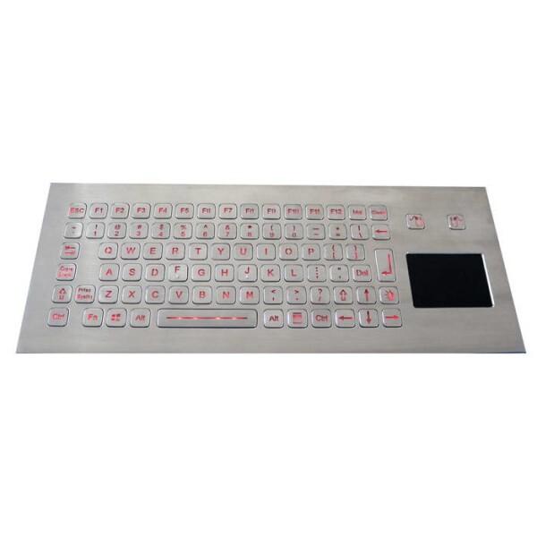 LOGO_IP67 hinterleuchtete Edelstahltastatur mit versiegeltem Touchpad