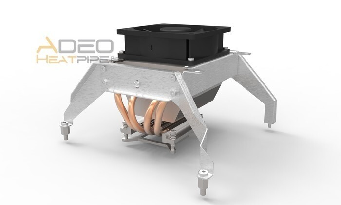 LOGO_mITX-Motherboard Adeo Heatpipe Kühlung - Vibrationsfest