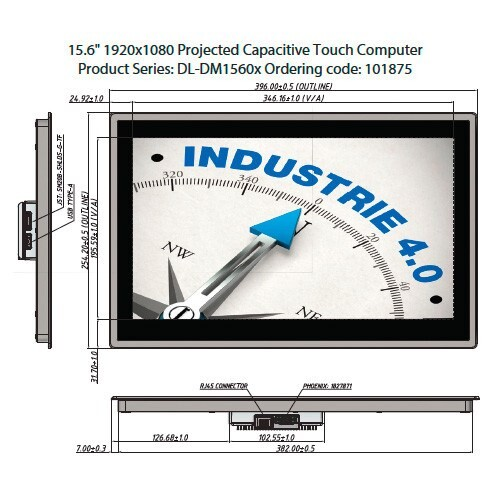 "LOGO_15.6"" 1920x1080 Projected Capacitive Touch Computer Product Series: DL-DM1560x Ordering code: 101875"