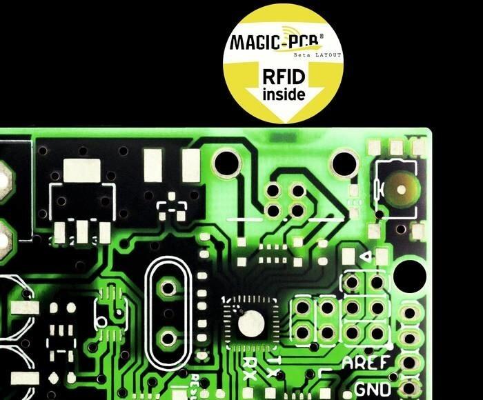 LOGO_Magic-PCB, PCB with embedded RFID