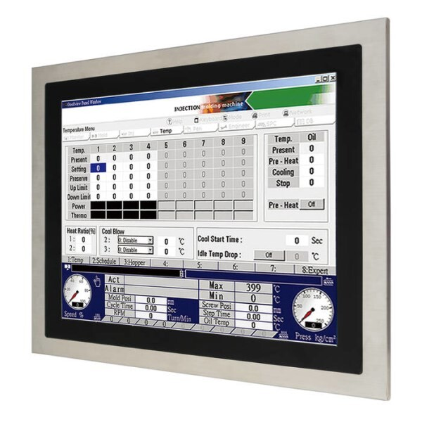 "LOGO_SP-7147: Fanless & Low power 17"" stainless steel flat touch panel PC"