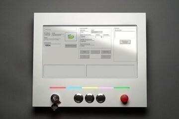 LOGO_HMI System 15'' mit Trägerplatte und Signalbeleuchtung