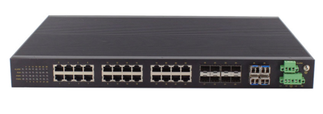 LOGO_28-port Layer 3 10G Full Gigabit Rack-Mounting Industrial Ethernet Switch with IEC61850