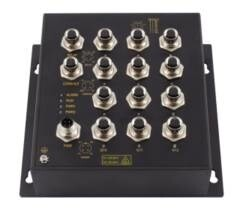 LOGO_12 full Gigabit M12 ports layer 3 Wall-mounting industrial Ethernet switch with EN50155
