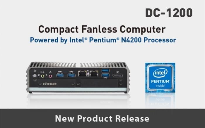 LOGO_Intel® Pentium® N4200 Prozessor Lüfterloser kompakter Embedded Computer - DC-1200