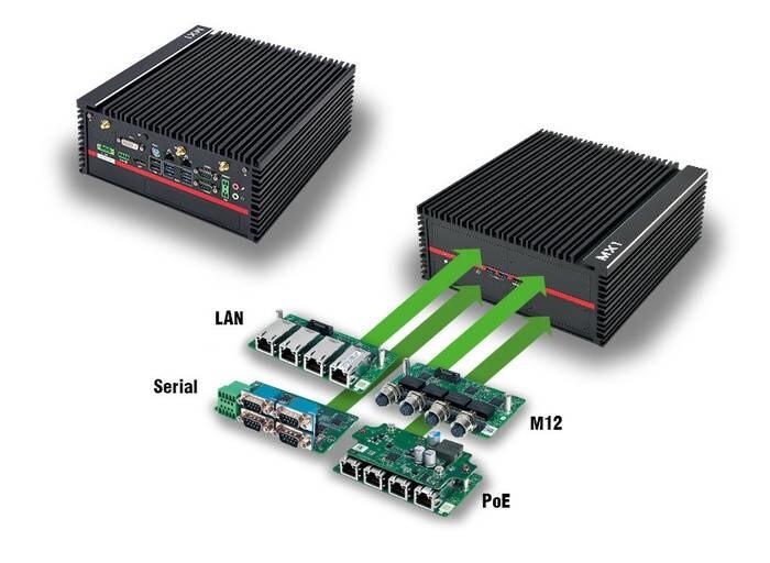 LOGO_MX1-10FEP - Modularer Embedded PC mit XEON Power und 10-fach PoE