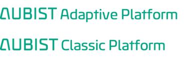 LOGO_AUBIST Adaptive & Classic Platforms: AUTOSAR-compliant automotive products