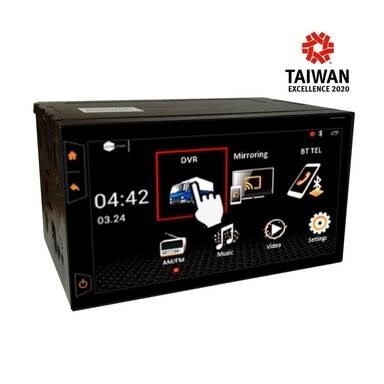 "LOGO_EMV407TD 7"" Driver Assistant Multimedia System4CH 1080p FHD All-in-One DVR"