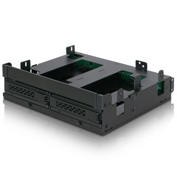 "LOGO_ICY DOCK ExpressCage MB732SPO-B Ultra Slim/Slim ODD & 2x 2.5"" SAS/SATA HDD/SSD Hot Swap Mobile Rack"