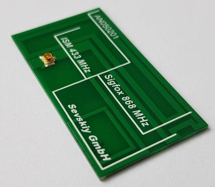 LOGO_433 MHz / 868 MHz PCB-Antenne (ISM, IoT, Sigfox, LoRa)