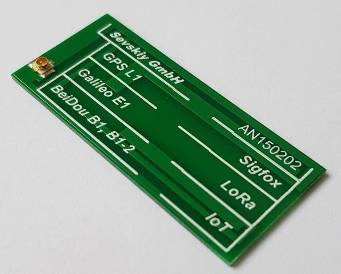 LOGO_868 MHz / 915 MHz / 1575 MHz PCB-Antenne (ISM, IoT, Sigfox, LoRa, GNSS)