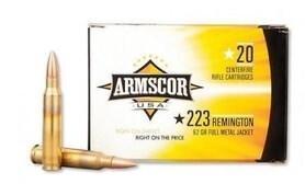 LOGO_Armscor USA .223 Rem. Full Metal Jacket, 62 Grain, 3050 fps, 20 Round Box, F AC 223-8N