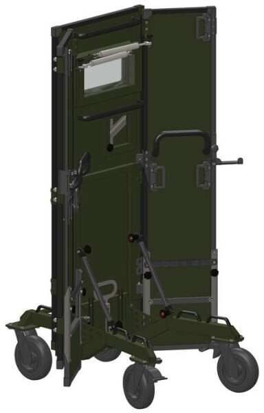 LOGO_Ballistic protective Shield on Trolley