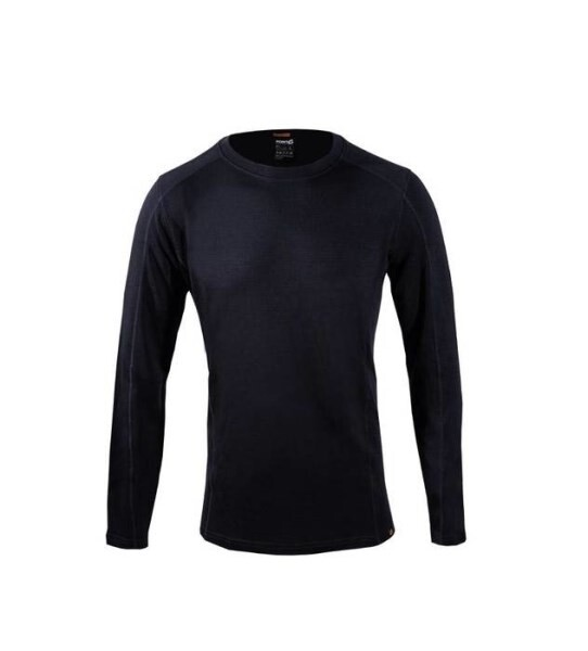 LOGO_men's base layer long sleeve mid-weight crew neck top
