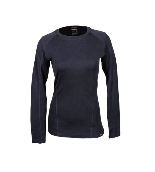 LOGO_women's base layer long sleeve mid-weight crew neck top
