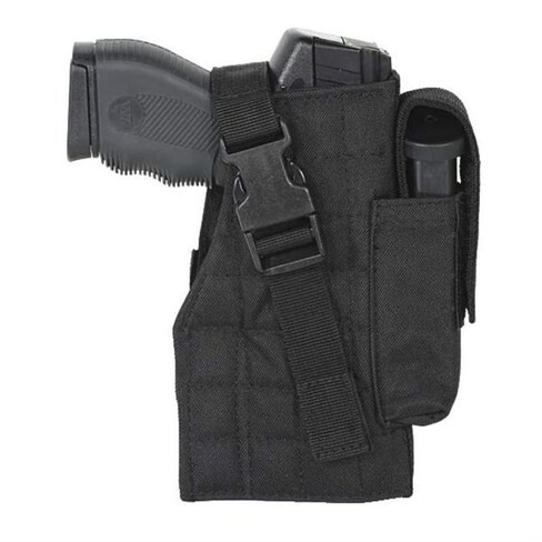 LOGO_Pistol Left Handed Drop Leg Holster Attached Magazine Pouch ODM Service