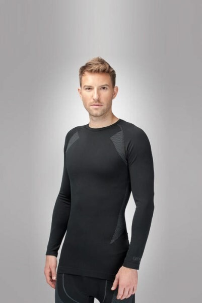 LOGO_HZT 14-001 SEAMLESS MEN EXTREME LONG SLEEVE SHIRT