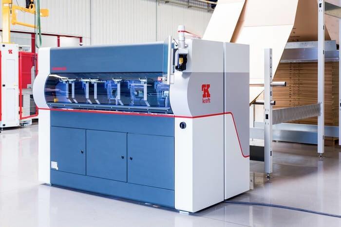 LOGO_Kraft VPS100 cardboard cutting machine