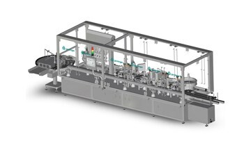 LOGO_Fully automatic filling and closing machine for syrups in glass and plastic bottles