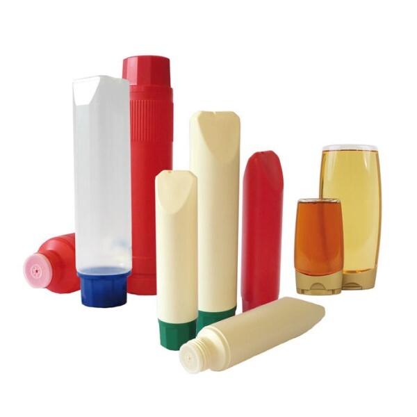 LOGO_PE-Rundflasche 800 ml, PE/PP-Keiltuben 500 - 875 ml, PP-Tuben 875 ml, PET-Ovalflasche 250 - 500 ml